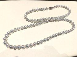 SVナチュラルパールネックレス/真珠8〜8.5mm/80cm/F76151/ジュエリー/真珠/パール/ネックレス/