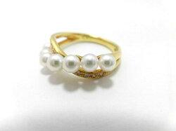 K18あこや真珠ダイヤリング/3.5〜4.0mm7ピース/ダイヤ0.07ct/リング/パール/真珠/南洋/pearl/指輪/ゆびわ/ring/ジュエリー/女性用/レディース/プレゼント/ギフト/お買い得/オススメ/宝石/高級
