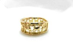 K18ダイヤモンドデザインリング/0.01ct/G1587/馬/リング/指輪/ゆびわ/ring/ジュエリー/ダイヤ/女性用/レディース/プレゼント/ギフト/お買い得/オススメ/送料込み/宝石