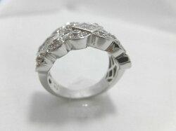 K18WGダイヤモンドリング/D1.45ct/F9677/リング/指輪/ジュエリー/女性用/レディース/プレゼント/ギフト/お買い得/オススメ/送料込み/宝石
