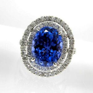 Ptタンザナイトリング プラチナ タンザナイト 4.43ct ダイヤモンド 0.78ct ジュエリー アクセサリー F7530 送料無料 30%OFF