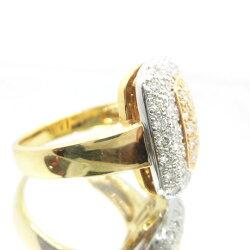 K18/Ptダイヤモンドリングイエローゴールドプラチナダイヤモンド1.09ctF6922送料無料40%OFF価格