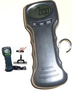 フックは布です 吊りはかり10gの単位で45kgまで計量デジタル吊はかりスケール秤温度表示あり 旅行も業務も使用可能デジタルはかり