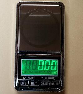 DC電源使用可能最新はかり0.01g単位で200gまで計量スケール精密はかり小型光るはかり日本語説明書付数量も計量可能デジタルはかり