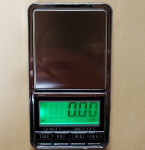 分銅付DC電源使用可能最新はかり0.01g単位で500gまで計量スケール精密はかり小型光るはかり日本語説明書付数量も計量可能デジタルはかり
