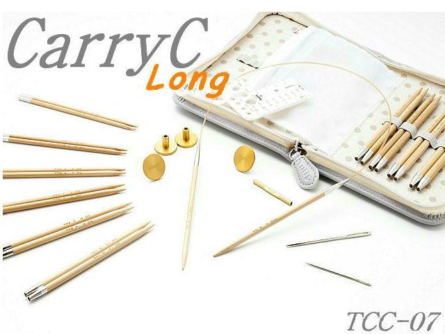期間限定!段数えマーカー付【チューリップ】切り替え式竹輪針セットcarry C Long キャリーシーロング(グレー)