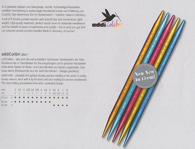 addi 超軽量両先5本組針204-7 15cm(0号−5号)【ネコポス便対応】