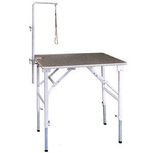 【純国産 高さ調節できるテーブル】トリミングテーブル アジャスト SX−L 【万力式アームLセット付】(W900×D600×H590mm〜910mm)【サロン】【人気】【便利】【プロユース】