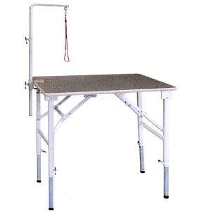 【純国産 高さ調節できるテーブル】トリミングテーブル アジャスト SX−LL【万力式アームLセット付】 (W1200×D600×H590mm〜910mm)【サロン】【人気】【便利】【プロユース】