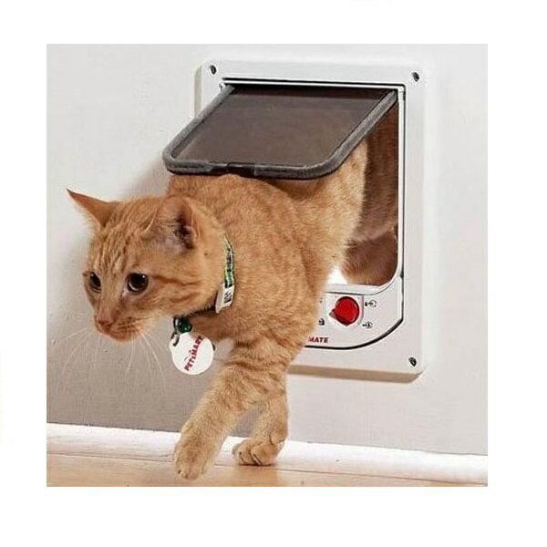 英国製CATMATE センサーマグネットドアM(入口サイズ:145mm×H145mm)【猫 ドア キャットドア】【野良猫侵入防止】【売筋商品】【省エネ・便利】