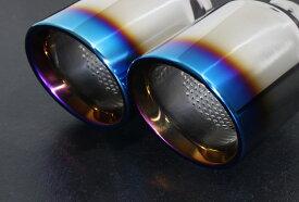 GRX130 マークX 130 G's用100Φインナーパンチング チタン風加工4本出しストレートスリーキャッツ製マフラー