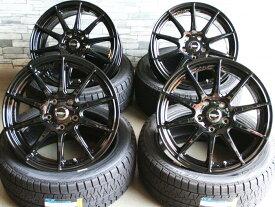 【即納OK】 クラウン 等に特注色ブラッククロススピード プレミアムR16×6.5J+38 5/114 ブリヂストン ブリザック VRX215/60R16 新品タイヤホイール4本SET