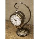 ヨーロッパ風 両面時計 アンティーク風 置き時計 クロック ブロンズ