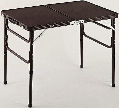 【送料無料】軽量折りたたみテーブル 高さ2段階 ハイテーブルとローテーブルの1台2役 幅90×奥行60×高さ41・70cm