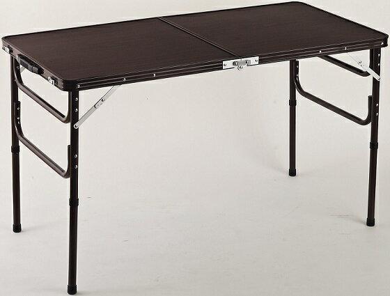 【送料無料】軽量折りたたみテーブル 高さ2段階 ハイテーブルとローテーブルの1台2役