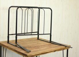 ベッドガード ハイタイプ 2本セット ブラック 高さ45cm
