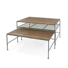 ディスプレイテーブル 2個セット ペアテーブル 店舗テーブル カフェテーブル センターテーブル 店舗陳列台