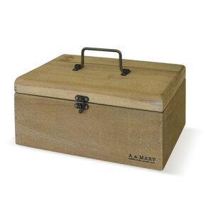 アンティーク調 木製ボックス 救急箱 エニーボックス