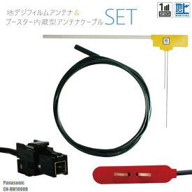フィルムアンテナ 右1枚 CN-HW1000D パナソニック Panasonic 用 地デジ ワンセグ フルセグ ケーブル アンテナコード VR1 端子 1本 セット フロントガラス