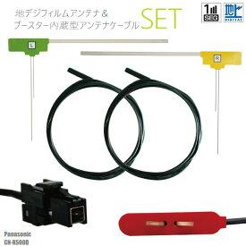 フィルムアンテナ 右1枚 左1枚 CN-R500D パナソニック Panasonic 用 地デジ ワンセグ フルセグ ケーブル アンテナコード VR1 端子 2本 セット フロントガラス