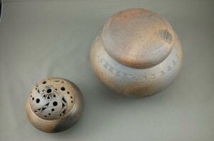 D-2-2輝光窯変大丸2変化香炉付き骨壷7号香炉として楽しめます