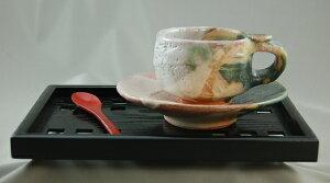 鳴海織部カップ&ソーサー