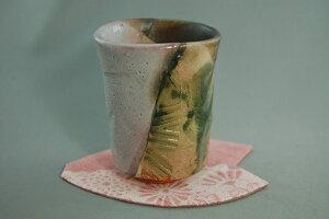 陶芸作家 荒川明作 鳴海織部 ビアカップ dbi-2 木箱付き こだわりのギフト 還暦祝いなどの贈り物に最適 【送料無料】【無料ラッピング承ります】