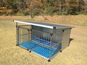 ドッグハウス  DFS-M2 床付き(1坪タイプ屋外用犬小屋)   大型犬 犬小屋  ステンレス製 犬舎 【送料無料】 【05P19Sep21】