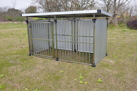 ドッグハウス  DFS-M1 (0.5坪タイプ屋外用犬小屋)  中型犬 大型犬 犬小屋  ステンレス製【送料無料】 【5倍】【20200704】 お買い物マラソンxポイントアップ