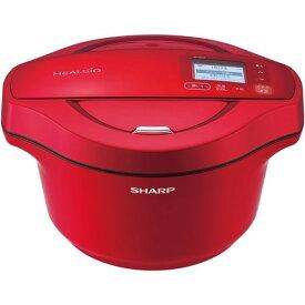 シャープ KN-HW24F-R 水なし自動調理鍋 HEALSIO(ヘルシオ) ホットクック 2.4L レッド系【05P22Jun21】