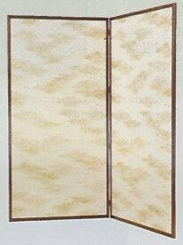 送料無料【茶道具 水屋道具/水屋屏風】金散両面使い 水屋屏風 二枚折 新品