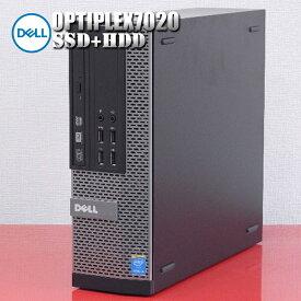 【中古】Dell デスクトップパソコン Optiplex7020 第4世代 Core i5 CPU メモリ8GB 高速新品SSD+大容量HDD Windows10Pro WPS Office付属
