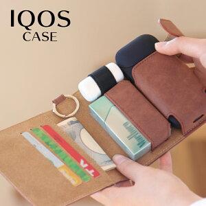 【全国送料無料(メール便発送)※代引き選択の場合は有料です。】財布型・手帳型・ブック型/アイコスレザーケース