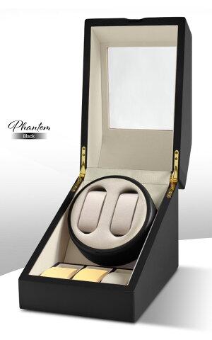 【楽天ランキング1位獲得!】【全国送料無料】高級ワインディングマシン・ウォッチワインダーマブチモーター・時計・2本巻+収納3本合計5本用・木製・ピアノ調塗装・鏡面仕上げ・時計・自動巻き・レディース、メンズ時計対応ワインディングマシーン/ファントム