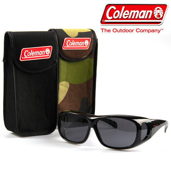 【★】 送料無料 Coleman 【コールマンCO3012-1 BIGケースセット】偏光 サングラス オーバーサングラス / 【CO3012-1 BIGケースセット】