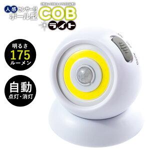 人感センサー付ボール型COBライト