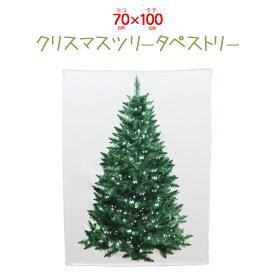 【全国送料無料 メール便発送】壁掛けクリスマスツリー・ヌードツリーxmas・クリスマス・ツリー・簡単設置・タペストリー70×100cm・シールやオーナメントを使用するとゴージャスになります。/タペストリー70×100cm