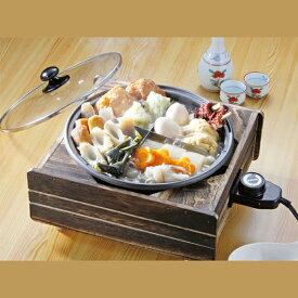 【全国送料無料】温度調節コントローラー付でおでんを煮込むのはもちろん、茹でる・焼く・炒め るなど色んな料理に対応出来ます。おでん・なべ・鍋●/温調式電気おでん鍋 武蔵