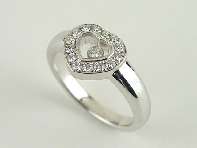 Chopard(ショパール) 750(K18WG) ダイヤリング ハッピーダイヤモンド # 10.5 82/1084 【中古】