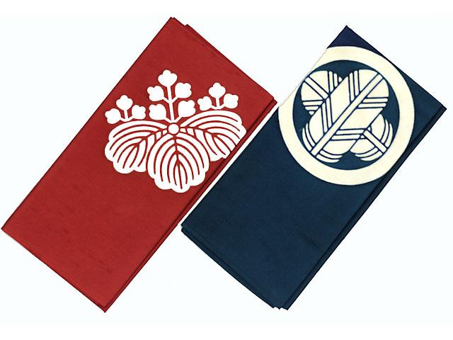 風呂敷 正絹白山紬 3幅(約103cm幅)  既製紋入