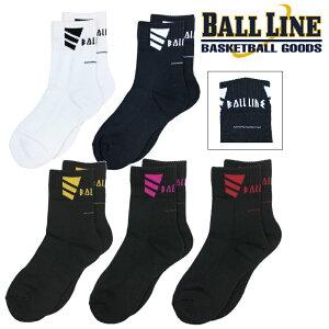 オンザコート バスケット BALL LINE(ボールライン)ミドルソックス BLS219