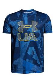 アンダーアーマー:ジュニアサイズ テックTシャツ<Print Crossfade>(トレーニング/Tシャツ/BOYS)[1306088]400