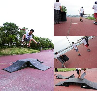 スケボーランプスケートボードランプジャンプ5点セットBMXラジコンインラインスケートジャンプ台ランプ&レールクォーターランプデッキウィールランプセット:Fullflyboxset(68905)