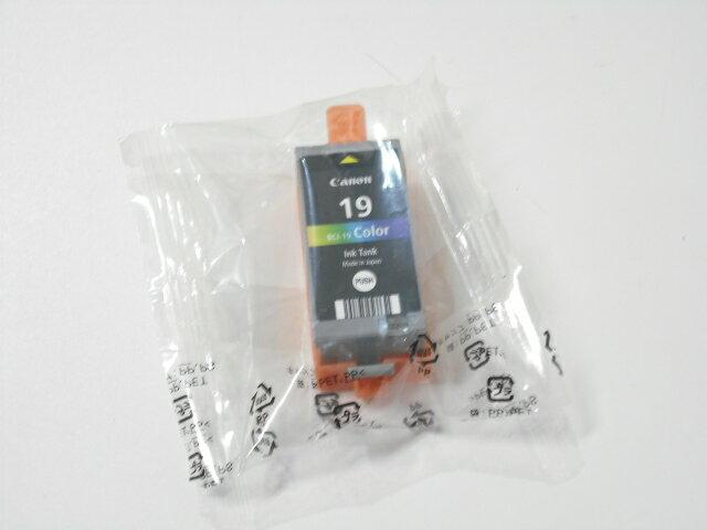 キャノン BCI−19カラー純正品 外箱なし■2019年1月■外箱なし中袋未開封【中古】