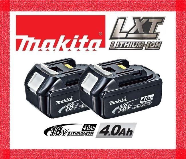 マキタ BL1840 バッテリー 18V 純正 2個セット/4.0Ah BL1830,BL1840B,BL1850,BL1860B 機種対応/リチウムイオンバッテリー/蓄電池