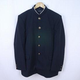 6580-185ウール混男子標準型学生服ラウンドカラー学ラン上着黒185A【新品】