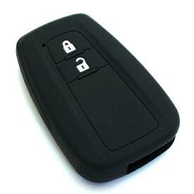 送料無料 プリウス50系 C-HR 純正適合 スマートキーカバー シリコン製 スマートキーケース 保護カバー CHR 鍵 キーレス キーレスカバー キーケース キーカバー 車 車用 車用品 カー用品 カーアクセサリー 黒 ブラック