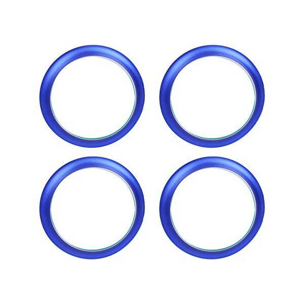 送料無料 日産 マーチ K13 NK13 エアコンリング カバー ブルー 4点セット 純正適合 内装 カスタムパーツ ACベンチリング インテリアパネル