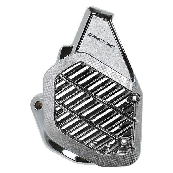 送料無料 PCX メッキ ラジエーター カバー 125 150 JF81 KF30 ハイブリッド 外装 社外品 ラジエターコアガード ファンカバー シルバー