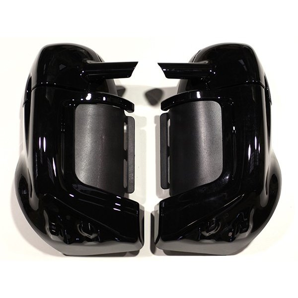 送料無料 ハーレー ロワーフェアリングキット塗装済み ブラック 鍵付き FLHR FLHRC FLHX FLHTC ツーリング ロードキング エレクトラ グライド バイク用品 バイクパーツ ロアフェアリング ロワーフェアリング キット カスタムキット カスタムパーツ ハーレー用 黒